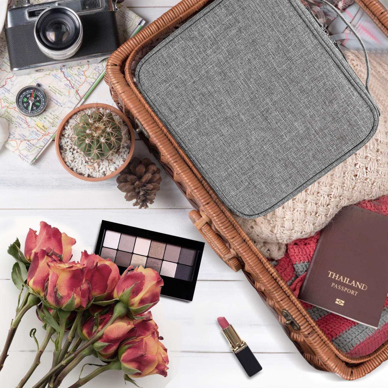 Grise Fonc/ée Pivoine /Étui de Maquillage Professionnel pour Maquilleur Sac de Maquillage Imperm/éable pour Hommes ou Femmes Sac pour Organiser Cosm/étique Portable Voyage Etui Cosm/étique