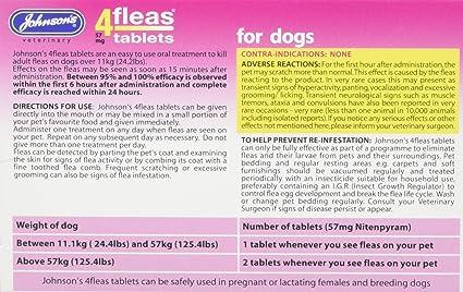 Johnsons Vet 4fleas Tablets for Dogs 3 Treatment Pack - D092: Amazon.es: Coche y moto
