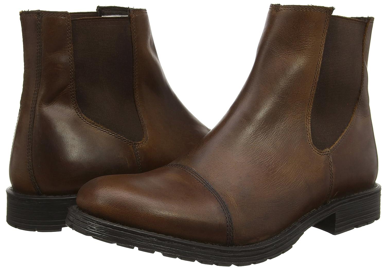 JACK & JONES Jjradnor Leather 1 Stiefel Stiefel Stiefel braun Ston Herren Stiefeletten mit Dünnem Futter bd82ba