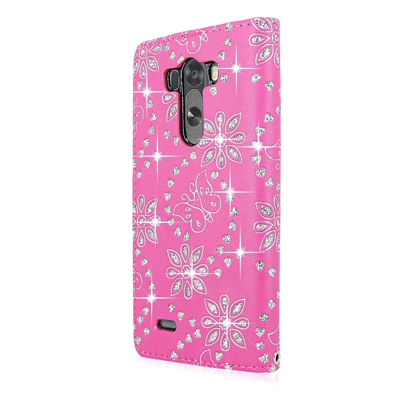 LG Stylo Case Cellularvilla Pink glitter Image 3