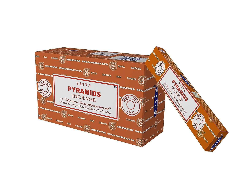 SatyaピラミッドNag Champa Incense Sticks、12カウント B01IW2CP6O