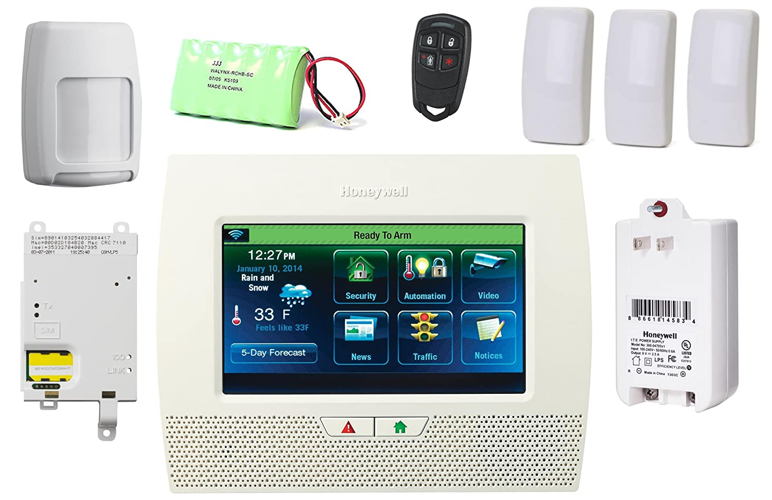 Amazon.com : Honeywell Lynx Touch L7000 Wireless Security ...