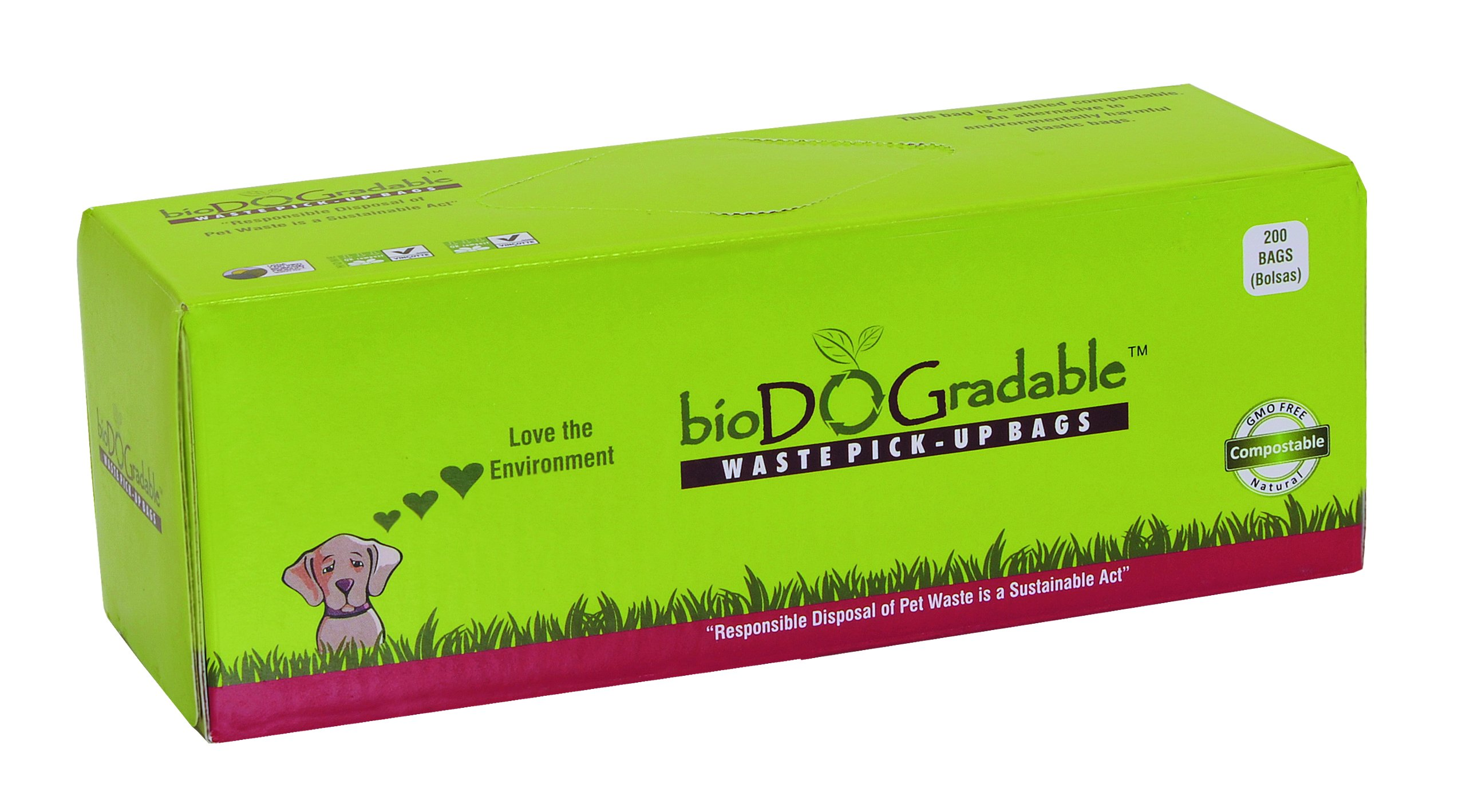 bioDOGradable Poop Bags Dog Waste Bags, Not Made from Plastic (8000 Bags)