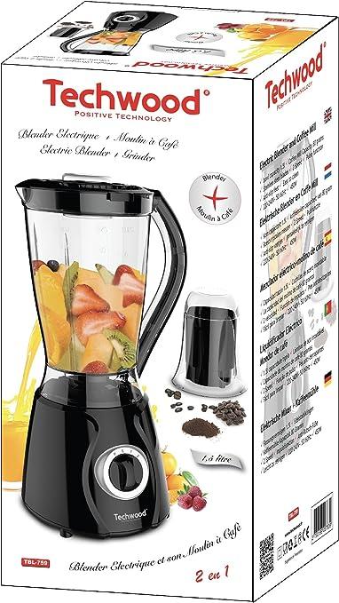 Techwood - Licuadora eléctrica con molinillo de café: Amazon.es: Hogar
