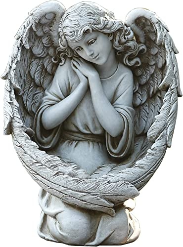 Joseph's Studio Kneeling Angel Bird Feeder Garden Statue