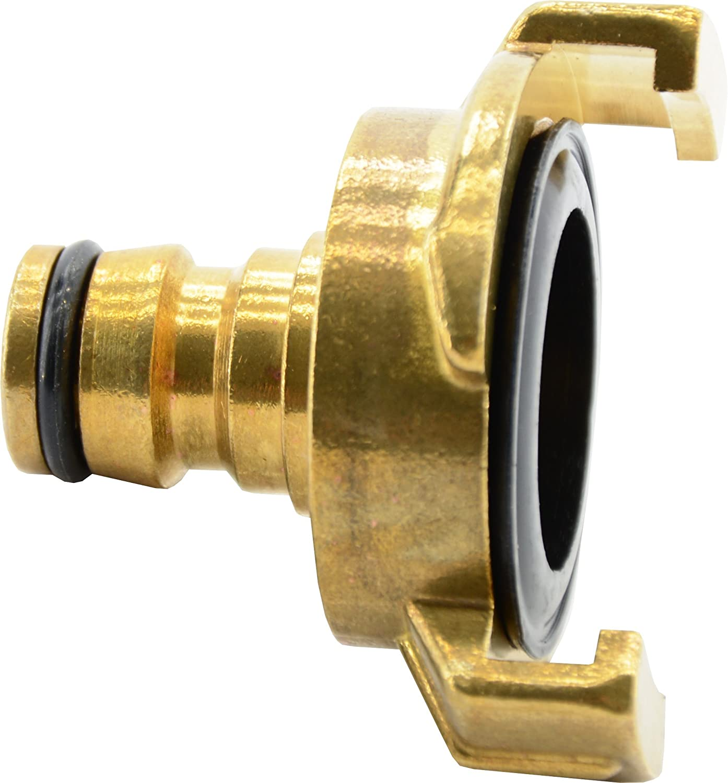 GARDENA 7102-20  Messing Klauenkupplung-Schlauchanschluss Klauenkupplung 16-1
