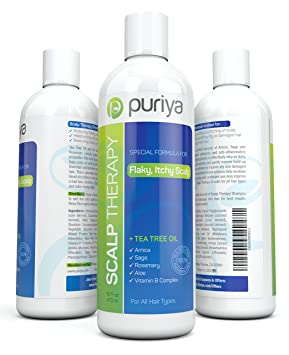 Natural Dandruff Shampoo (16oz) with Potent Tea Tree by Puriya