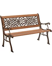 Oakland Living Royal Park Garden Bench with Cast Aluminum, Iron and Hard Wood Structure, Antique Bronze