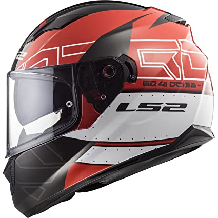 LS2 Casco de moto STREAM EVO KUB rojo, negro, rojo y negro, talla L