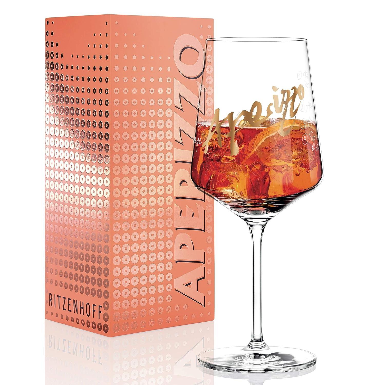mit edlen Goldanteilen RITZENHOFF Aperizzo Aperitifglas von Claus Dorsch aus Kristallglas 600 ml