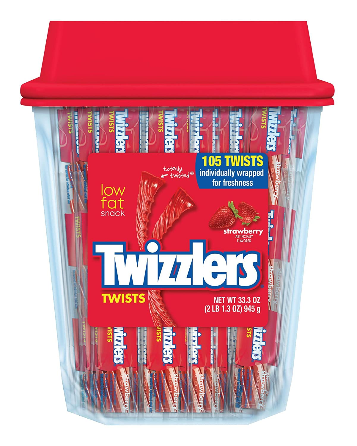 Twizzlers Twists, Strawberry, 105 Count