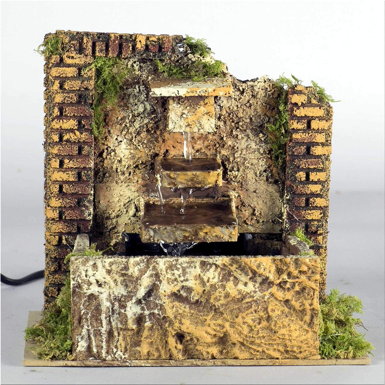 Fontaine avec pompe fonctionnant /à trois niveaux 20 x 14 x 18 cm accessoires cr/èche