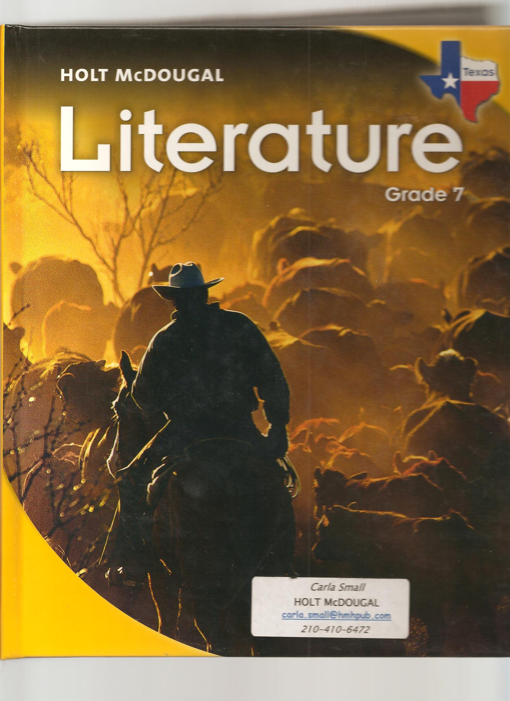 Buy Literature Grade 7 Holt Mcdougal Literature Texas Book Online