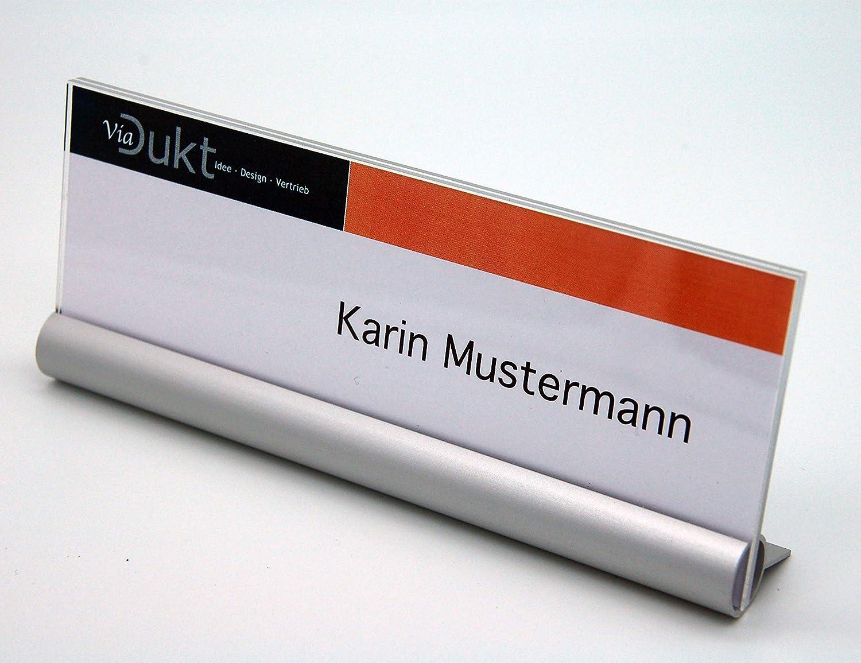 Laton, Set da 5 pezzi, Portanome da Tavolo, portabiglietto, tavolo, cartello, targhetta per nome, prezzo, 165 x 65 mm ViaDukt- Idee Design Vertrieb LATON-5