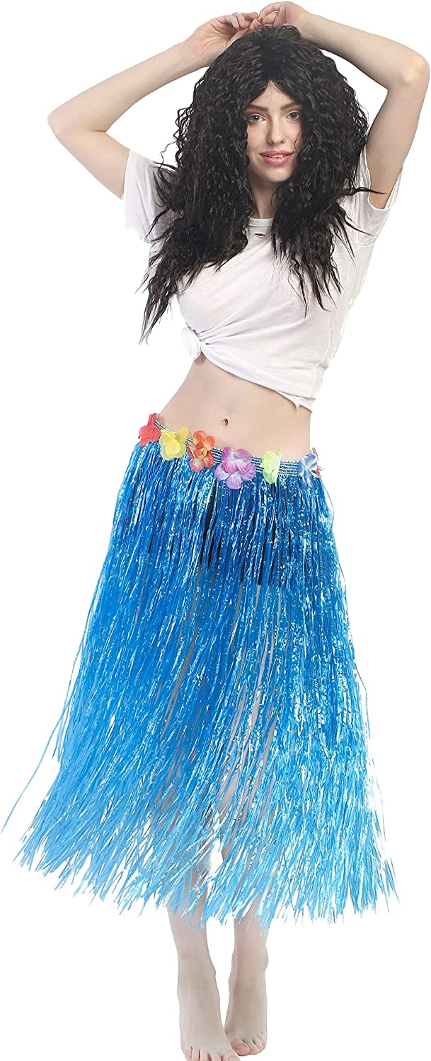 dressmeup Dress ME UP - CQ-004-blue Carnaval Hawái Falda de Paja ...