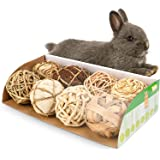 andwe Small Animals Play Balls Rolling Chew Toys & Gnawing Treats for Rabbits Guinea Pigs Chinchilla Bunny Degus - Pet…