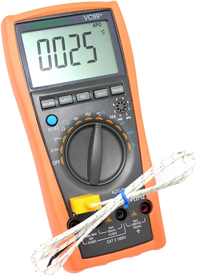 83 opinioni per AideTek VC99+ Digital Auto Range Multimeter Tester Capacitor Amp Voltage AC DC