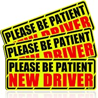 Botocar New Driver Magnet for Car, Reflective Please Be Patient New Driver Sign, Student Driver Magnetic Safety Sign…