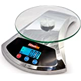 Ultimate54 Digital Kitchen Food Scale 22lb/10kg Capacity with LCD Display & Tare Function(Chrome)