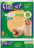 Flatout Light Italian Herb Flatbread Wraps - 90 Calories - 2 Weight Watchers® SmartPoints® (3 Packs of 6)