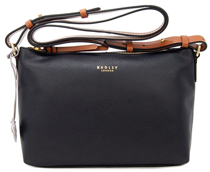 Image Unavailable. Image not available for. Colour  RADLEY Leather Zip Top  Across Body Bag  Guildhall  in Black RRP 169.00 edf7a67abb034