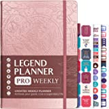 Legend Planner PRO - Deluxe Weekly & Monthly Life Planner to Increase Productivity and Hit Your Goals. Time Management…