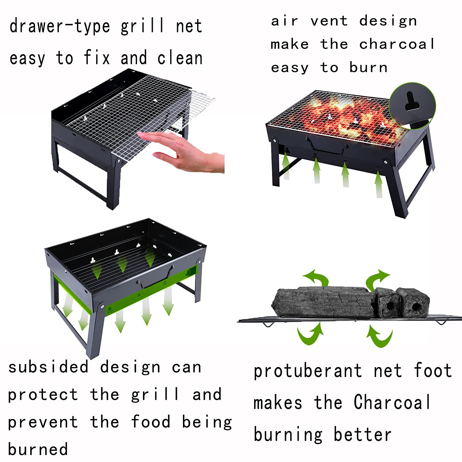 Picknick Grill Best Outdoor Camping Hiking Picnic Traveling Bbq