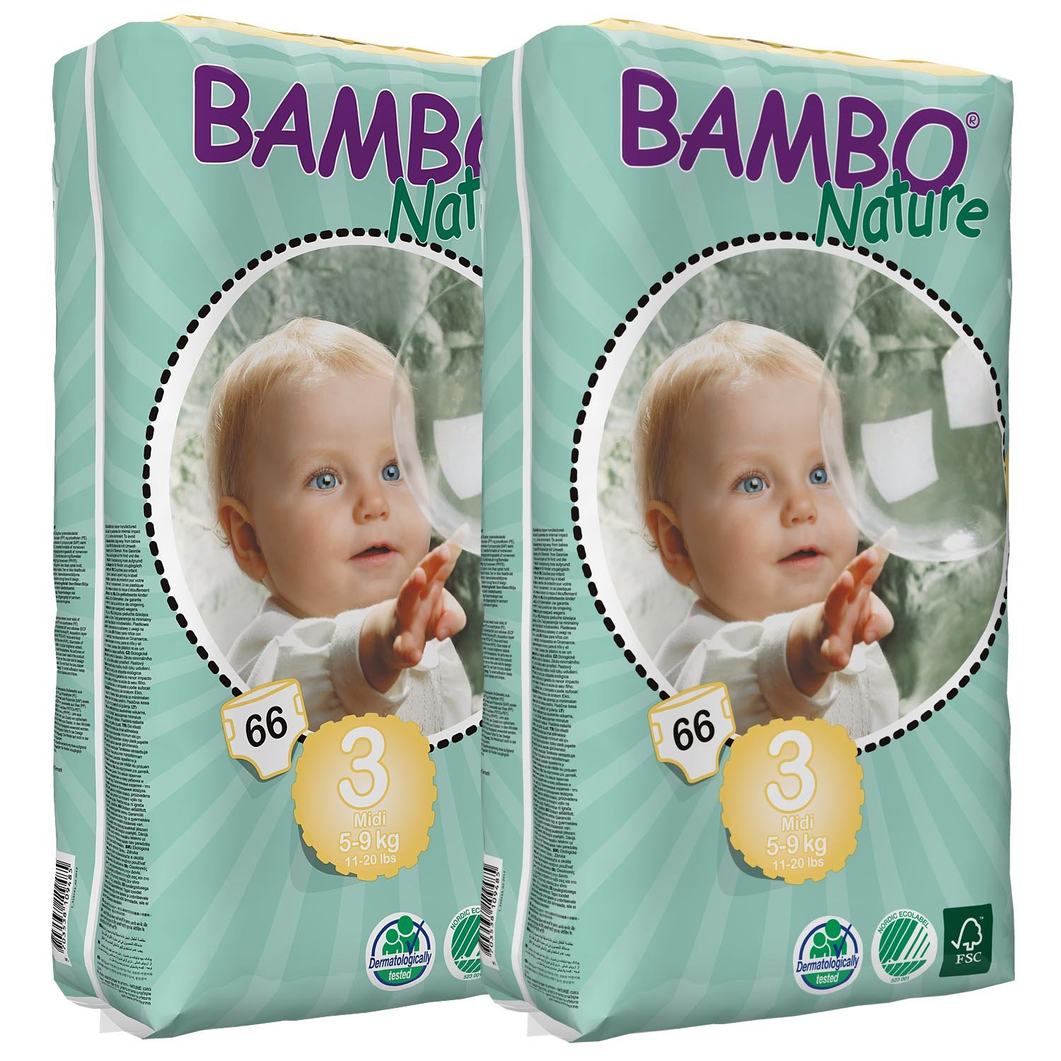 Bambo Nature Nappies (Tall) Twin Pack - Maxi (Size 4) Abena