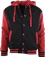 ChoiceApparel® Mens Baseball Varsity Jacket With Detachable Hoodie