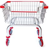 Coin Laundry Cart, CART&SUPPLY [Heavy Duty][Rolling Cart] Laundry Cart [Chrome] Without Pole Rack