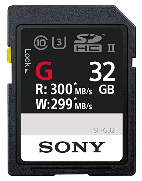 Sony SF-G32/T1 High Performance 32GB SDHC Uhs-II Class 10 U3 Memory Card with Blazing Fast Read Speed Up to 300MB/S