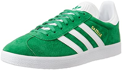 official photos 0cbe4 7d1eb adidas Gazelle chaussures, Vert (GreenWhiteGold Met), 36 2