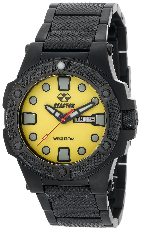 REACTOR Herren 72507 Meltdown Yellow Dial Schwarz-Nitrid beschichtet Uhr