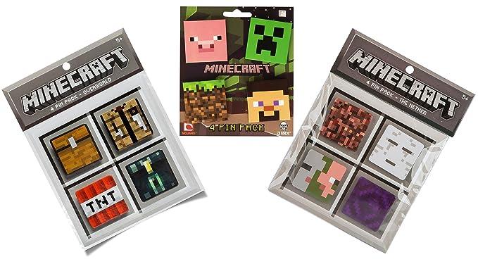 Amazon.com: Minecraft Pin Collection: creeper-pig-dirt block ...