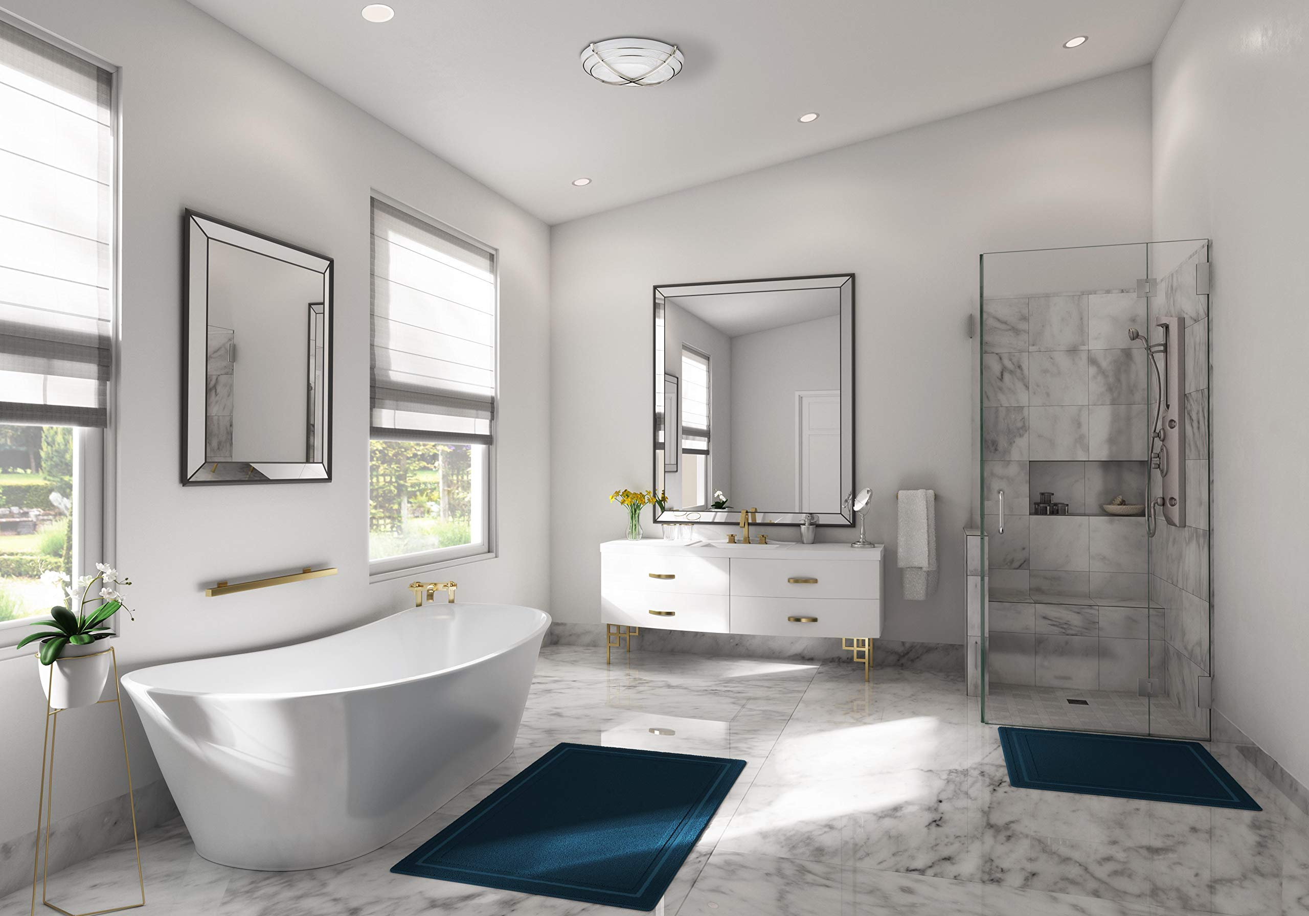 Hunter 81030 Halcyon Bathroom Exhaust Fan and Light in Contemporary Cast Chrome by Hunter Home Comfort (Image #3)