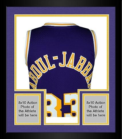 0531c1daebc Framed Kareem Abdul-Jabbar Los Angeles Lakers Autographed Purple Adidas  Swingman Jersey - Fanatics Authentic