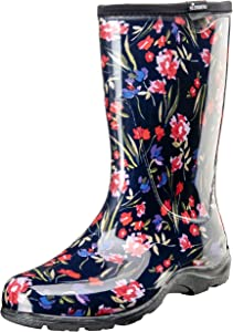 Sloggers 5019FCNV06 Fresh Cut Navy Sz 6 Wo'S Waterproof Comfort Boot