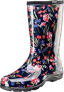 product image for Sloggers Women's Waterproof Rain and Garden Boot with Comfort Insole (10, Roses)