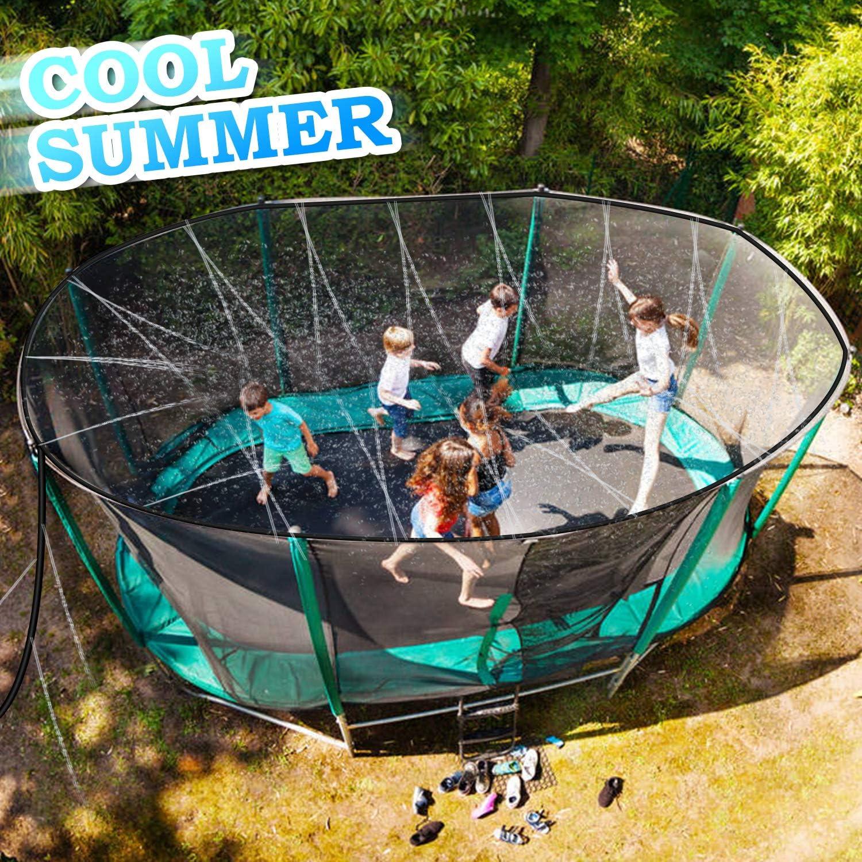 Minterest Trampoline Sprinkler Mist Cooling System 12M Water Play Sprinklers Pipe for Kids Outdoor Fun Water Park Summer Games Yard Toys Waterpark