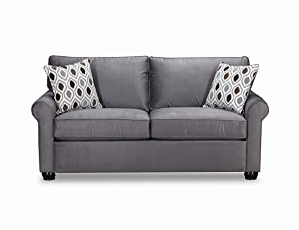 Pleasing Simmons Upholstery 1530 04F Jojo Smoke Jojo Sleeper Sofa Slate Machost Co Dining Chair Design Ideas Machostcouk
