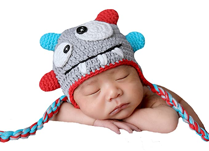 7d8ea16dd Melondipity's Baby Monster Hat - Newborn, Baby and Toddler Boys