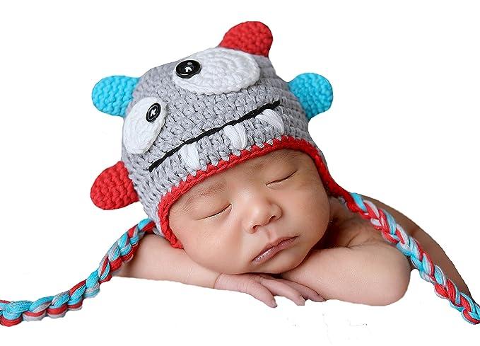 52de7807e47 Amazon.com  Melondipity s Baby Monster Hat - Newborn