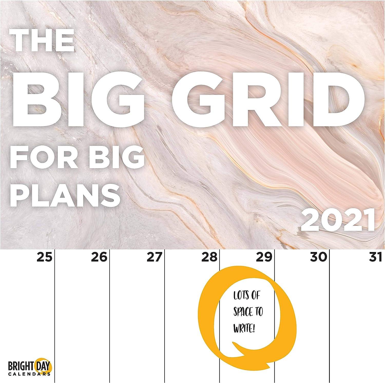 Unl 2021-2022 Calendar Amazon.: 2021 Big Grids for Big Plans Wall Calendar by Bright