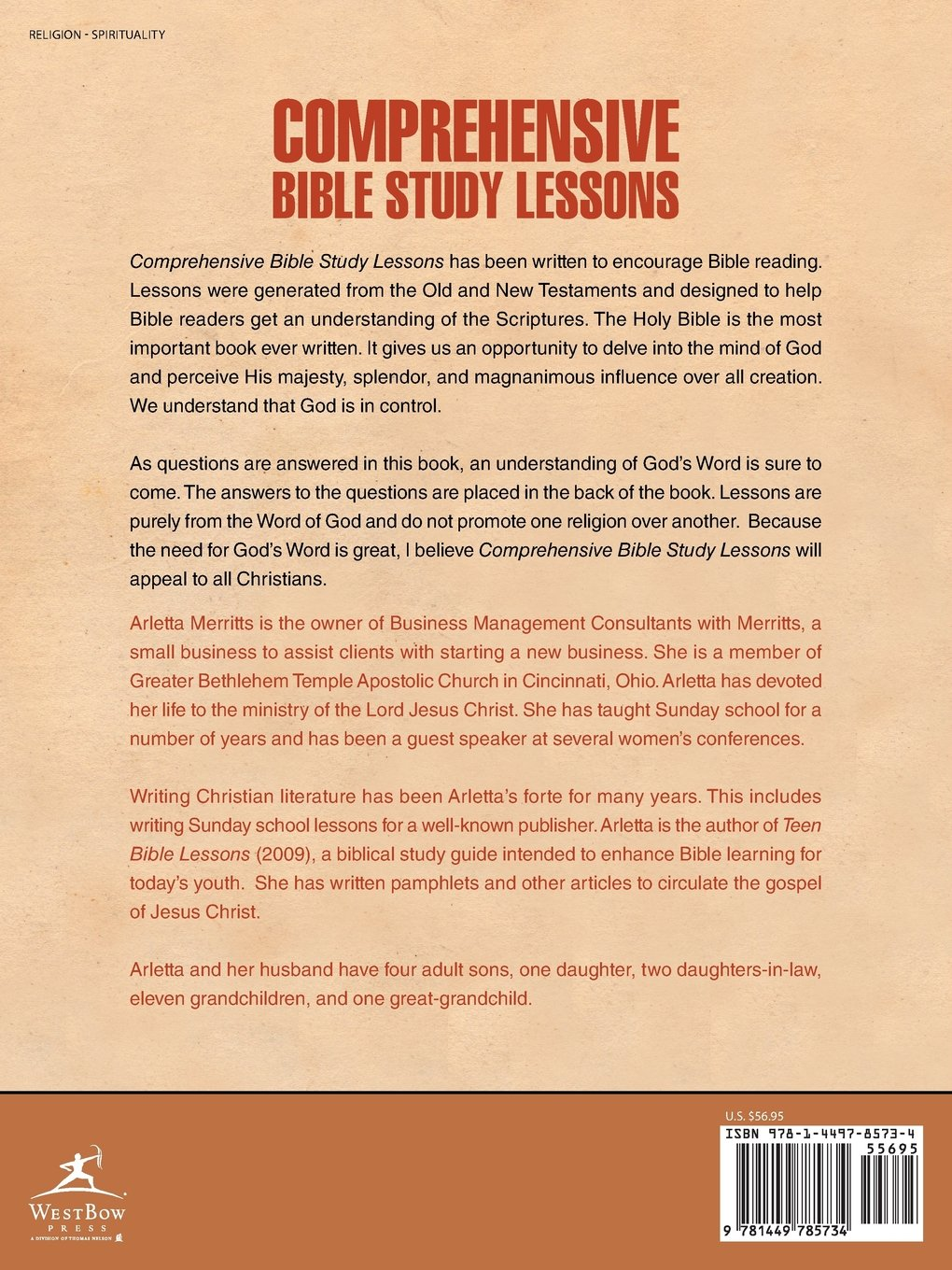Comprehensive Bible Study Lessons Arletta Merritts 9781449785734 – Bible Study Worksheets for Adults