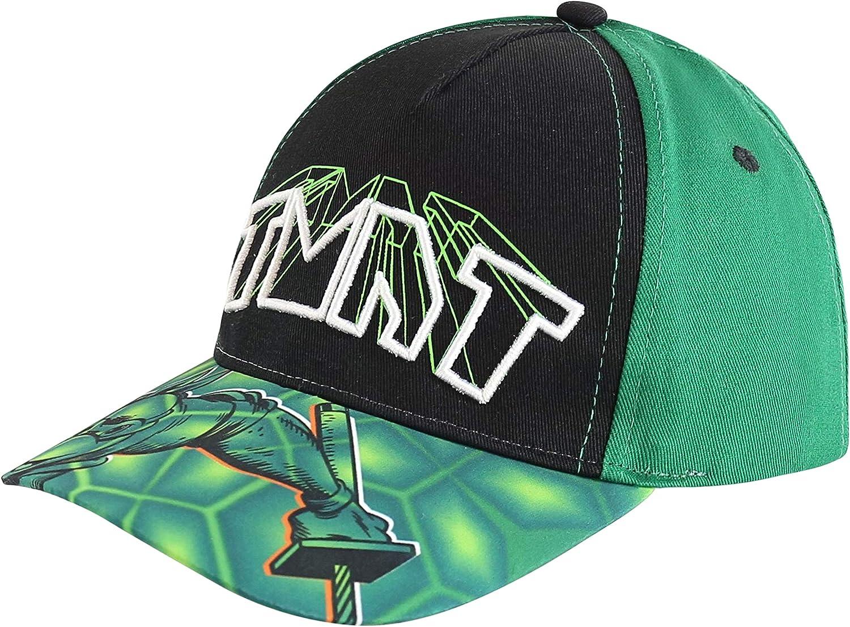 Teenage Mutant Ninja Turtles Kids Hat for Little Boys Ages 3-6 Leonardo Baseball Cap 3D Design, Green: Clothing