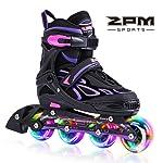2pm Sports Vinal Girls Adjustable Flashing Inline Skates