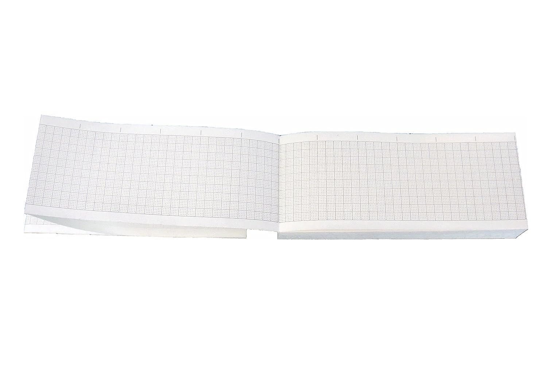 Paquete plegado de papel térmico para ECG compatible con HP/Philips 9270-0546