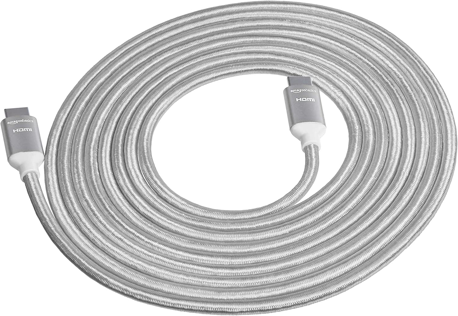 1.83 m Basics High-Speed Braided HDMI Cable Silver