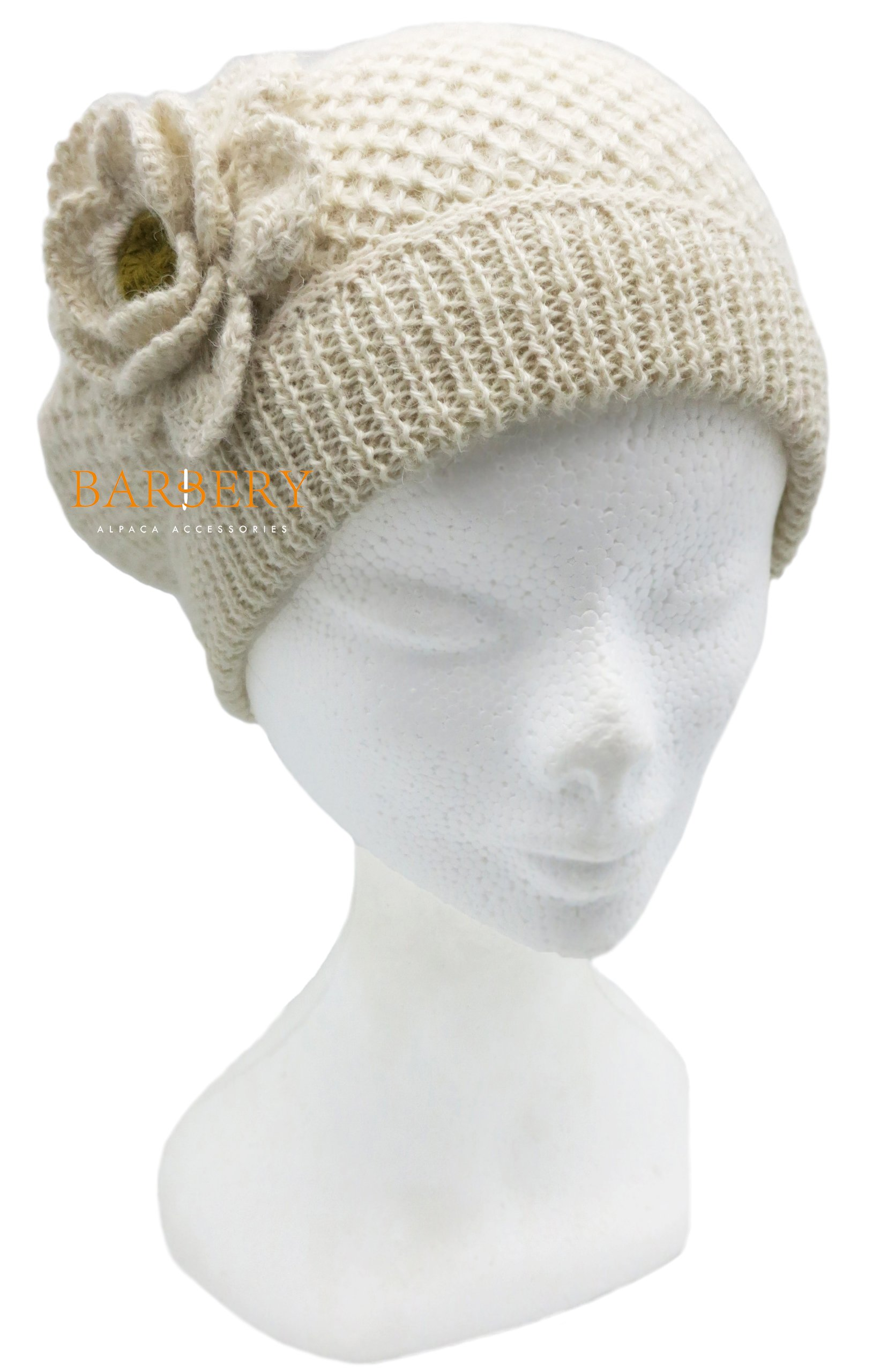 Ready to Ship - French Style Pure Alpaca Beret Hat (Ivory Cream)