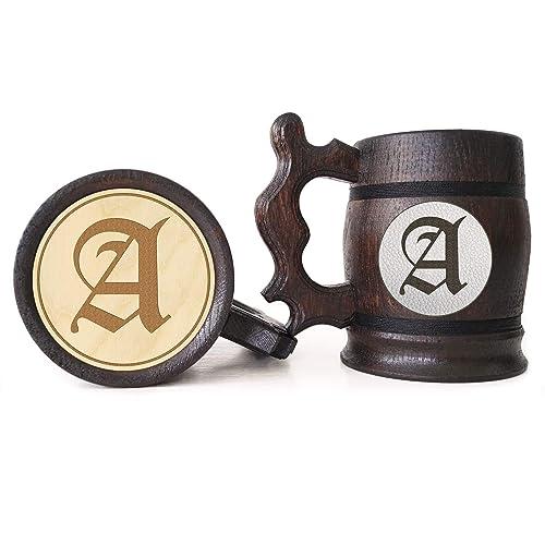 Amazon Monogram Wooden Beer Mug Groomsman Gifts Idea Wedding